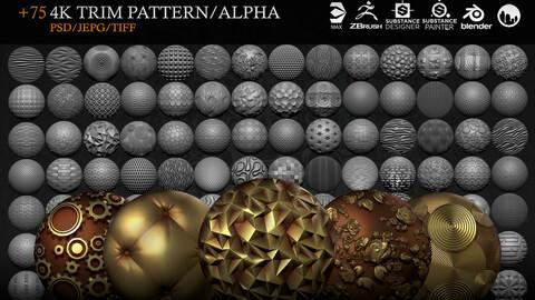 +75 4K Trim Alpha/Pattern