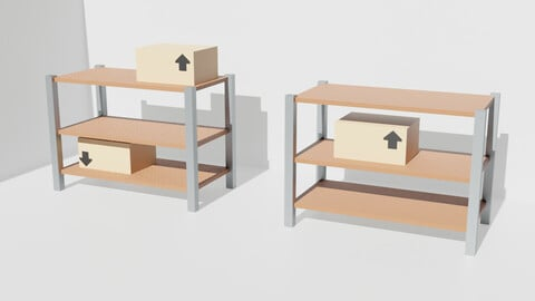 Shelf With Boxes