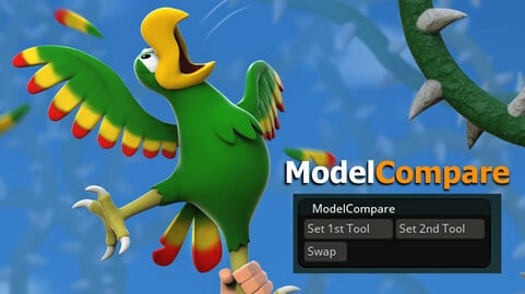 ModelCompare - Effortlessly compare two Zbrush Tools!