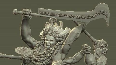 Goddess Kali 3D Print