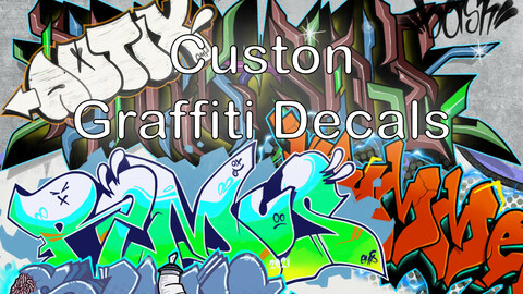Custom Graffiti Decals