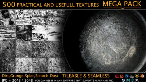 MEGA PACK - 500 Practical and useful Stencil imperfection
