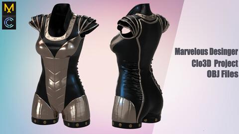 Antique outfit /Marvelous Desinger/Clo3D Project+OBJ File