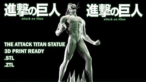 THE ATTACK TITAN STATUE