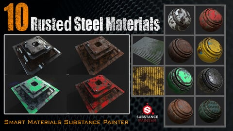 10 Rusted Steel Materials