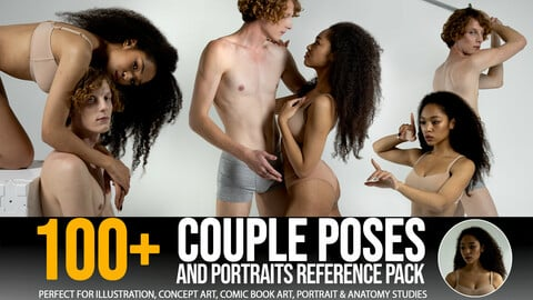 100+ Couple Poses & Portraits - Reference Pack