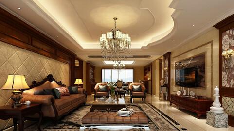 Modern fashion style interior living room -0529