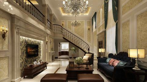 Modern fashion style interior living room -0530