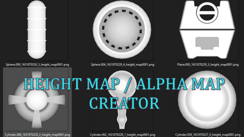 Height Map and Alpha Map Creator From Meshes
