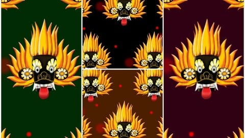 Sri Lankan traditional masks wallpapers for iPhone 6,7,8