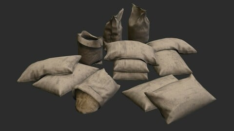 Military Sand Bags Assets 02