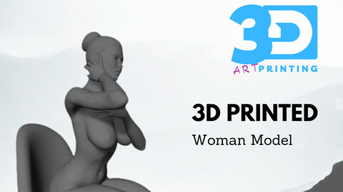 Pack Bundles of Nude Woman Over 18 - Gold Sexy Position Naked Girl - 3D Printable Model - STL Printable