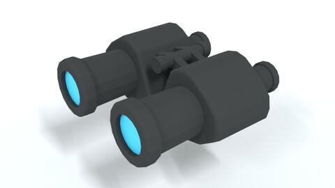 Low Poly Cartoon Binoculars