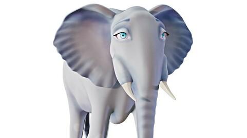 Cartoon Elephant - Stylized 3D model