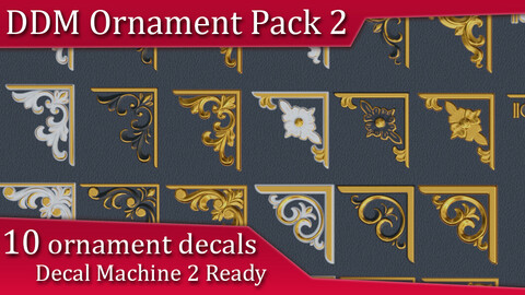 DDM Ornament Pack 2 | Decal Machine 2 Ready Pack
