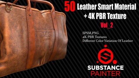 50  Leather Smart Material + 4K PBR Texture Vol_2