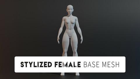 Stylized Female Base Mesh 2.0