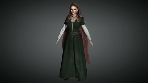 Medieval Female Character 02