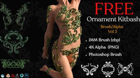 Free Ornament Brushes + 3D Model + IMM Brush