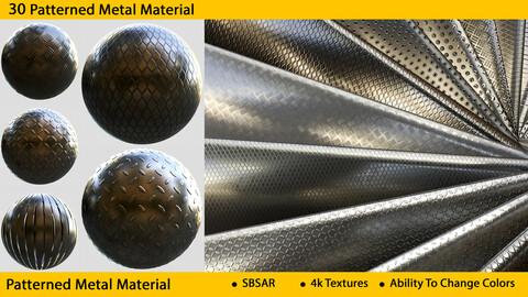 30 Metal Texture ( 4k PNG - SBSAR )