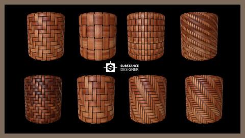 Procedural Bamboo Material  (Generator  .sbs + sbsar + texture )