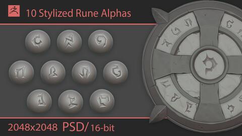 Stylized Rune Alphas