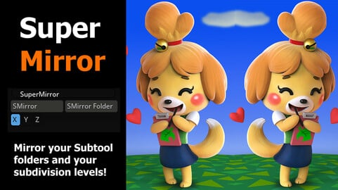 SuperMirror - Mirror Zbrush folders and preserve subdivisions too!