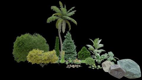 vegetation 3d models