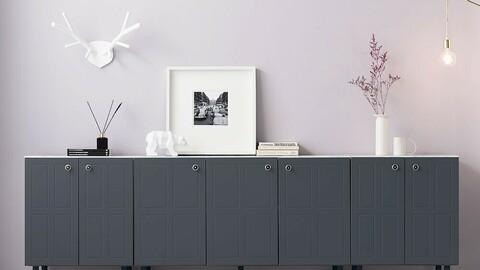 Chenus 2400 High Living Room Cabinet Set