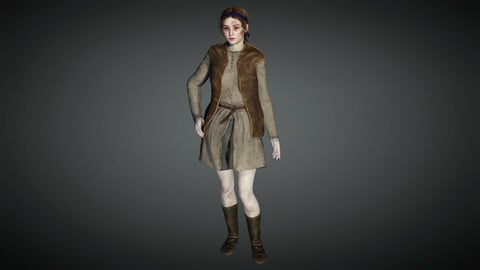 Medieval Female Character 03