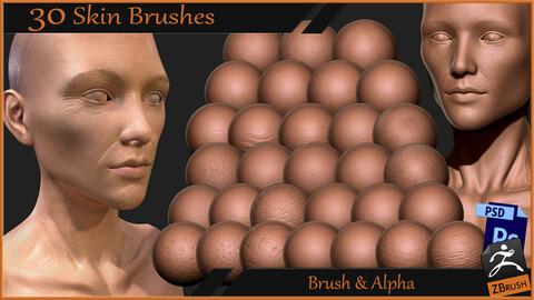 30 Skin Brushes