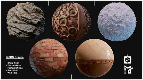 5 Substance Designer materials