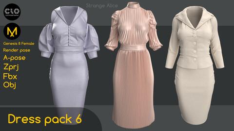 Dress pack 6. Clo3d, Marvelous Designer projects.