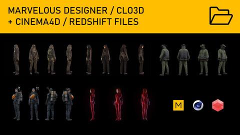 Clement Balavoine - Marvelous Designer + C4D/Redshift Files