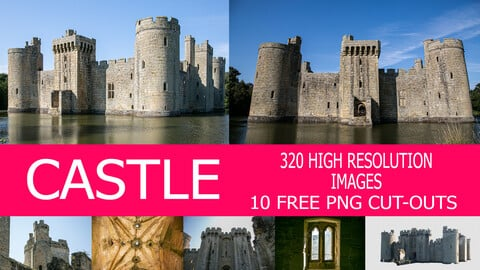 CASTLE REFERENCE PACK + 10 FREE PNG CUT OUTS