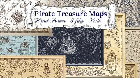 Pirate Treasures Maps