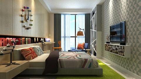 Deluxe master bedroom design  08