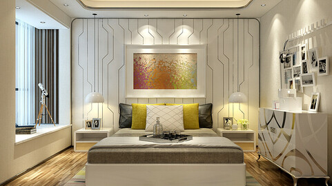 Deluxe master bedroom design  10