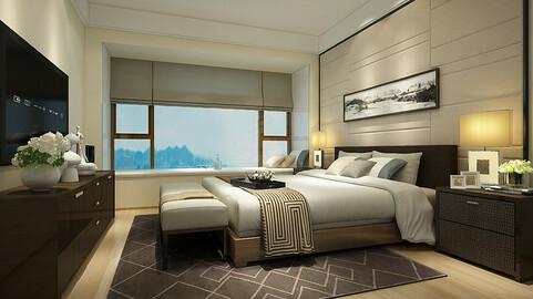 Deluxe master bedroom design  25