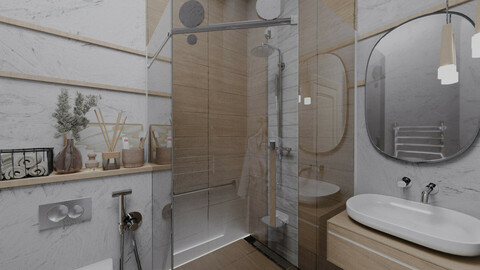 Cozy White Bathroom