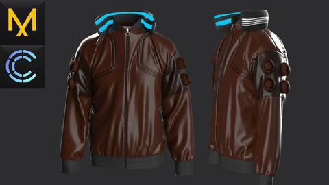 New concept Marvelous Clo3D Jacket CyberPunk Male OBJ mtl FBX