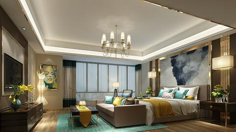 Deluxe master bedroom design  53