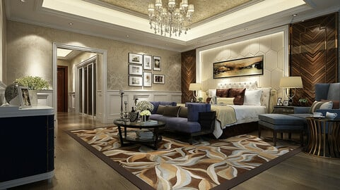 Deluxe master bedroom design  55