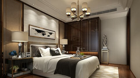 Deluxe master bedroom design  56