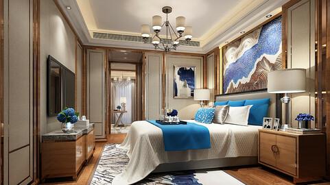 Deluxe master bedroom design  64