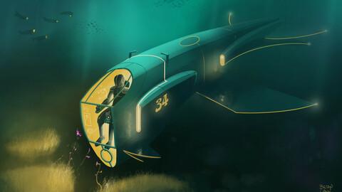 Art Nouveau Submarine