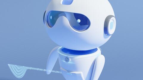 3D blender model of sci-fi Robot.