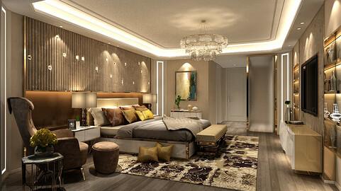 Deluxe master bedroom design  70