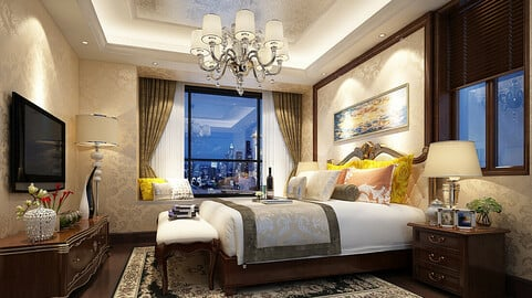 Deluxe master bedroom design  77