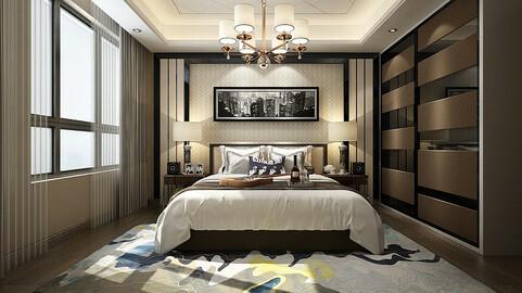 Deluxe master bedroom design  84